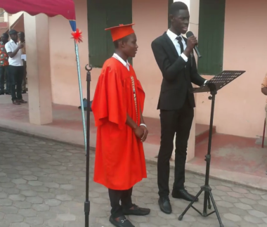 Prefect delivering speech